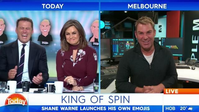 Shane Warne gives Lisa Wilkinson a 'hot flush' over racy on-air banter.
