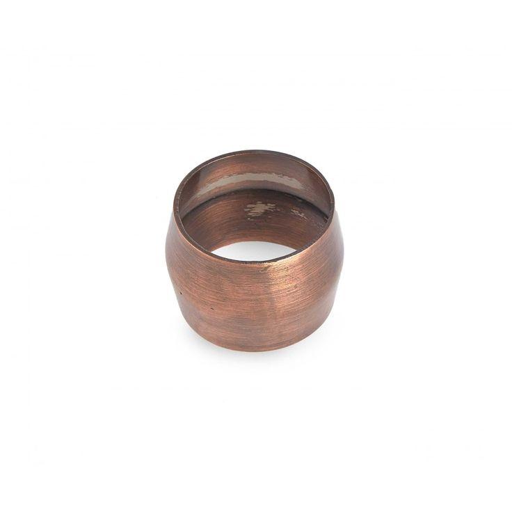 Moxon Napkin Ring. Antique copper.
