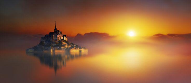 Mont Saint-Michel - Creazione artistica.