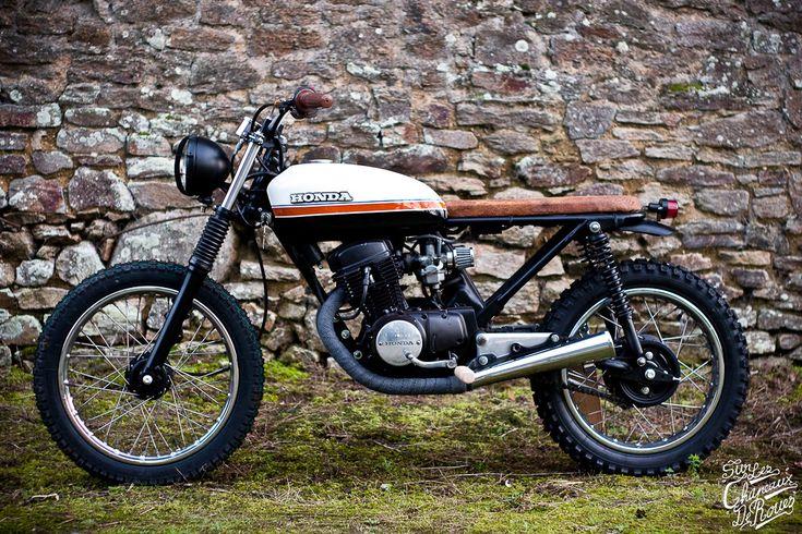 Honda cb 125 1980 cafe racer - Sur Les Chapeaux De Roues