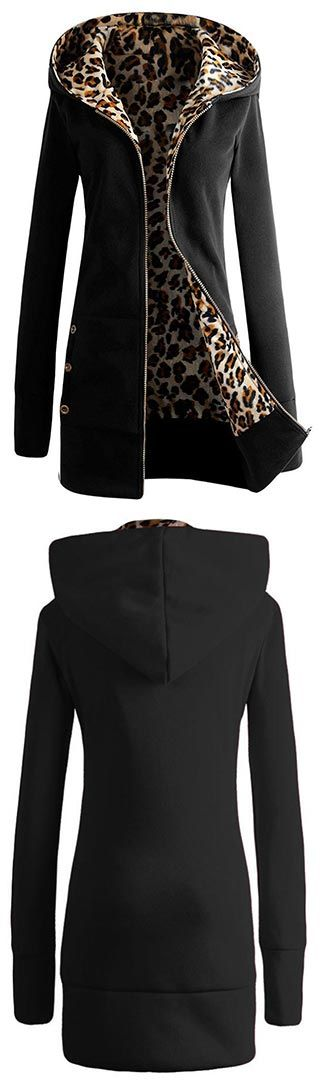 Time to meet our latest leopard obsession. Hot sale, Only $32.99 ! Tiger Mist Coat features Leopard fleece lining. Find more amazing pieces at CUPSHE.COM !