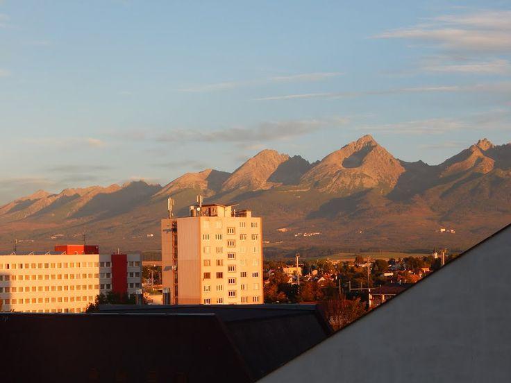 Pohled na Gerlach s hotelu Satel