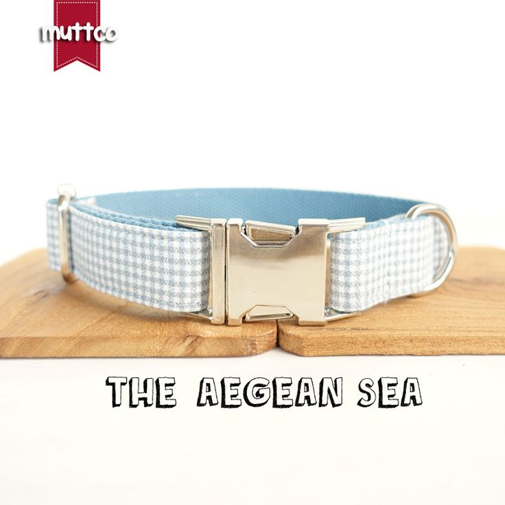 50pcs/lot MUTTCO wholesale self-design handmade British style dog collar THE AEGEAN SEA soft collars and leashes 5 sizes UDC022 #Affiliate