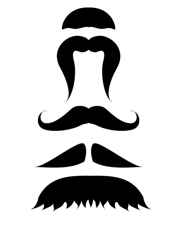 Printable Mustache Template - wikiHow Kids Stuff Mustache