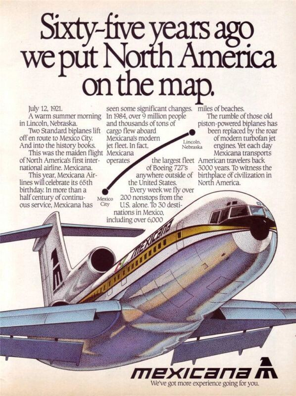 1986 Mexicana Airlines Advert