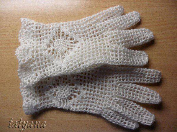523497aaa73  •♫♪ Guantes de encaje a crochet •♫♪