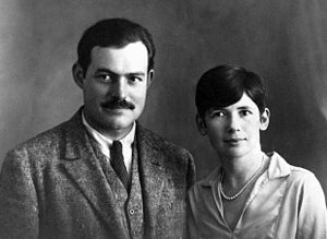 2nd wife. Pauline Pfeiffer Hemingway. A move to Paris for Vogue led to her meeting Hemingway and his first wife, Hadley Richardson.In the spring of 1926, Hadley became aware of Hemingway's affair with Pauline, and in July Pauline joined the couple for their annual trip to Pamplona. On their return to Paris, the couple decided to separate; and in November Hadley formally requested a divorce. They were divorced in January 1927. He married Pauline in May. 2 sons, Patrick & Gregory.