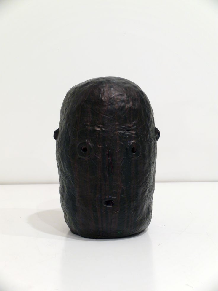 Graham Fletcher, 2014, Untitled (Head 2), ceramic and acrylic, 280 x190 x180mm