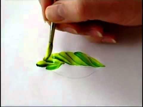 переходной мазок листок петриковская роспись - YouTube
