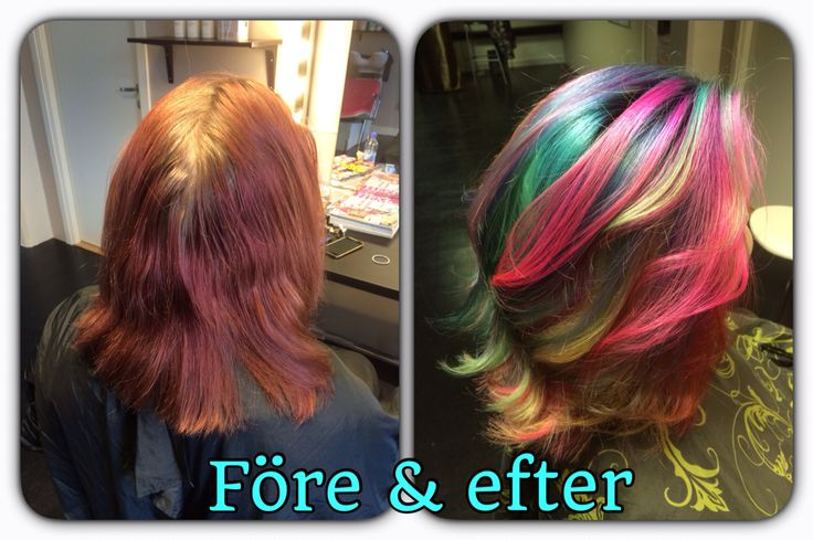 Before and after. Crazy haircolor