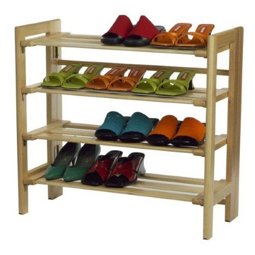 Winsome 4 Tier Foldable Wood Shoe Rack