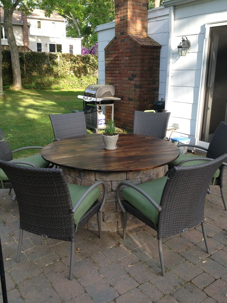 Outdoor Dining Table That Converts To A Firepit Modern