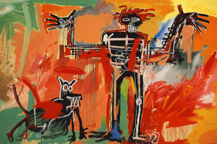 Jean Michel Basquiat Boy and Dog in a Johnnypump. 1982