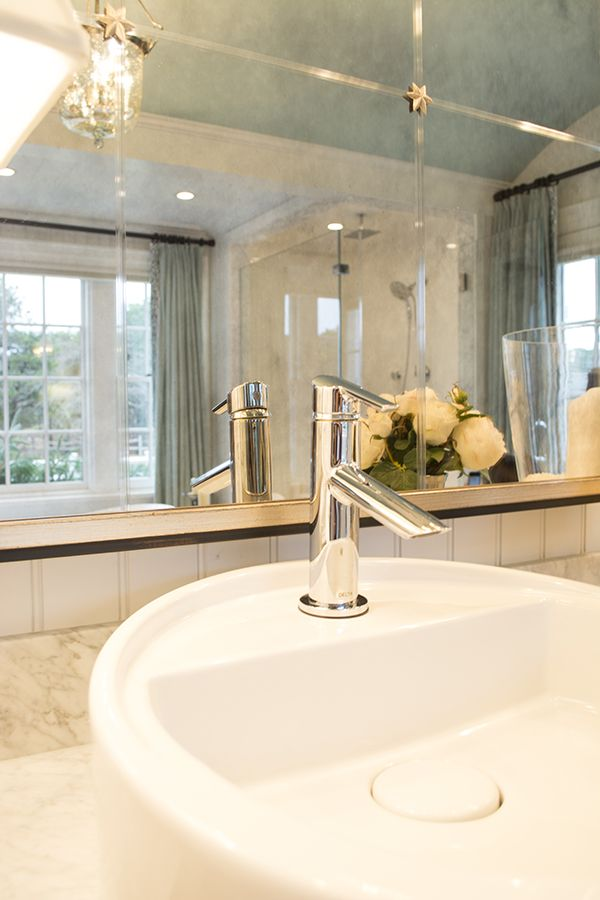 Image On  deltafaucet fixture in the gorgeous master bathroom of the HGTV dream home on Martha us