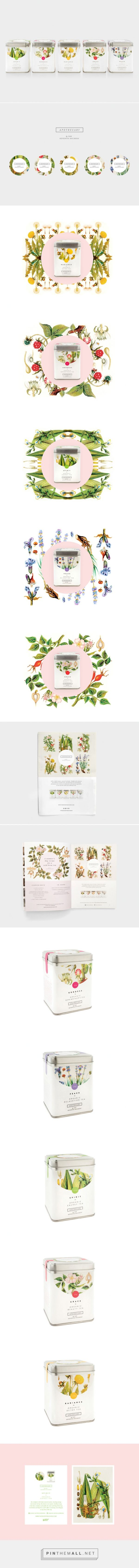 Lovely Apothecary Tea Packaging by Nude Design Studio for Seventh Dutchess curated by Packaging Diva PD Herbal and organic teas and tisanes created via http://www.packagingoftheworld.com/2015/01/apothecary-tea-packaging.html