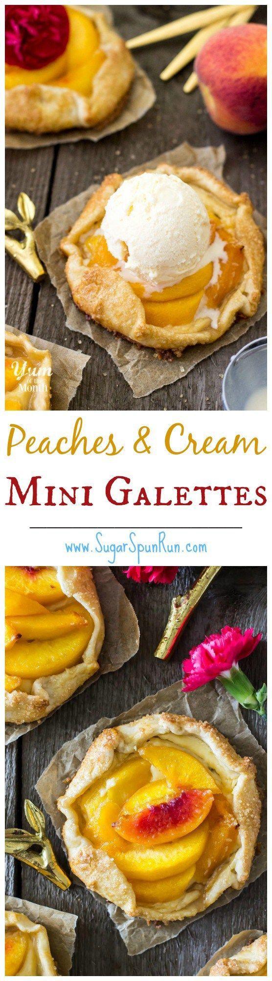 Mini Peaches & Cream Galettes -- SugarSpunRun | Fancy ...