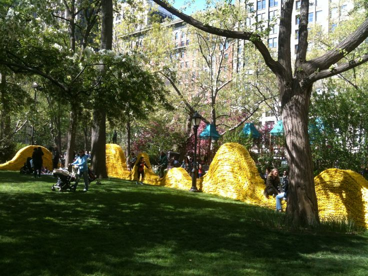 Red, Yellow and Blue by Orly Genger, Madison Square Park, Summer 2013