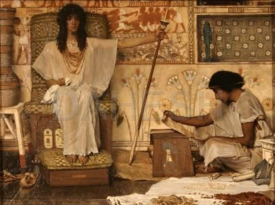 Sir Lawrence Alma-Tadema (Dutch/British, 1836–1912) Joseph, Overseer of Pharaoh's Granaries, 1874 Oil on panel, 13 3/4 x 18 in. Signed and inscribed upper right: L. Alma-Tadema op CXXIV