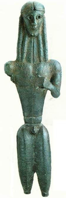 The Mantiklos Apollo From Thebes Greece Ca 700 680 Bc