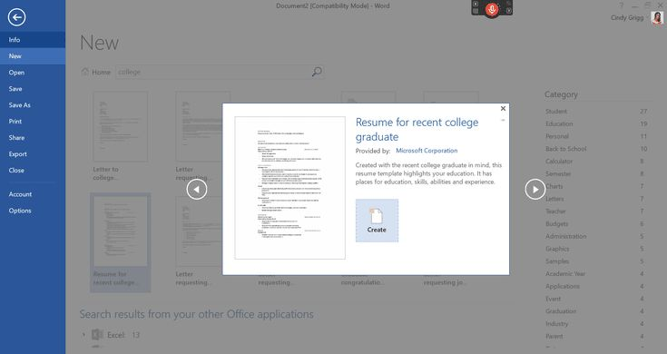 Use Free Resumes from Microsoft to Get Your Next Job: College Graduate or Entry Level Resume Template for Microsoft Word