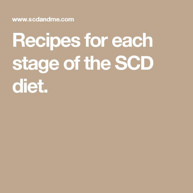 Recipes for each stage of the SCD diet.