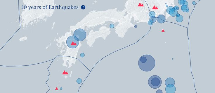 10 years of earthquakes: Data storytelling group