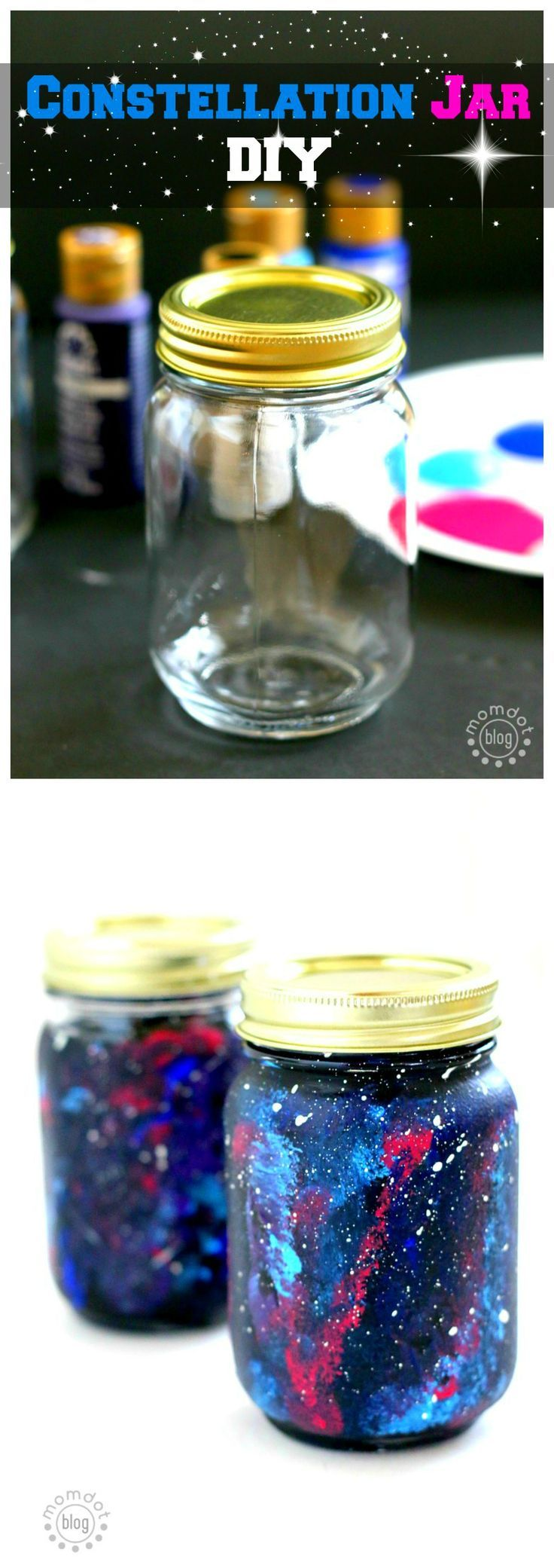 Create a Constellation Jar that lights up: host the galaxy in your room with this DIY Constellation jar, picture tutorial