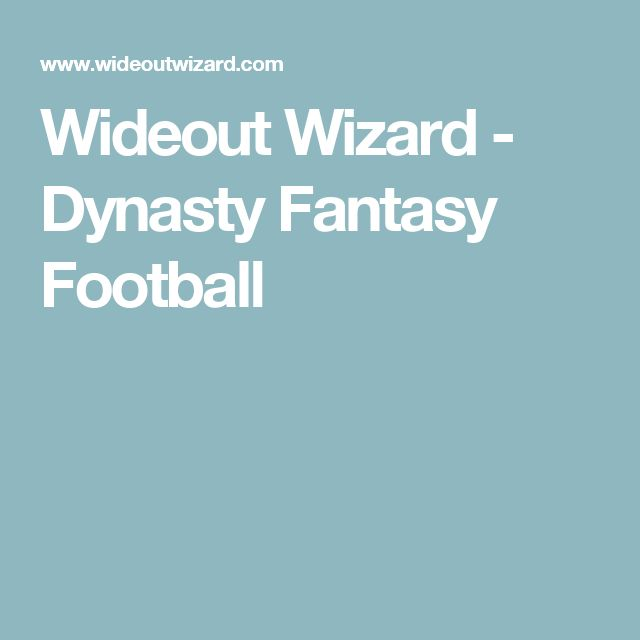 Wideout Wizard - Dynasty Fantasy Football