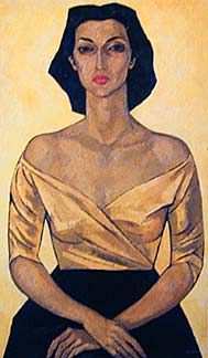 Portrait of Leonor Estrada by Oswaldo Guayasamin. 1952