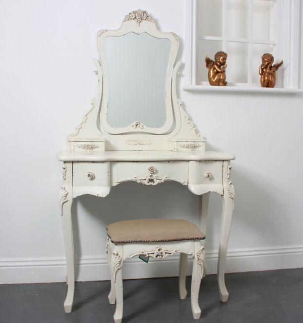 cream dressing table