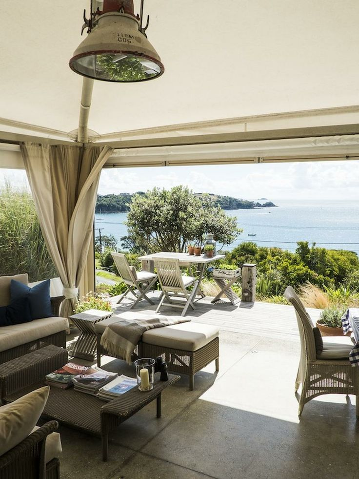 Hamptons-meets-Kiwi style at the seven-room Boatshed hotel on Waiheke Island in #Auckland.