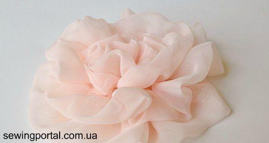 Цветок из ткани (шифон) — МК | Sewing Portal