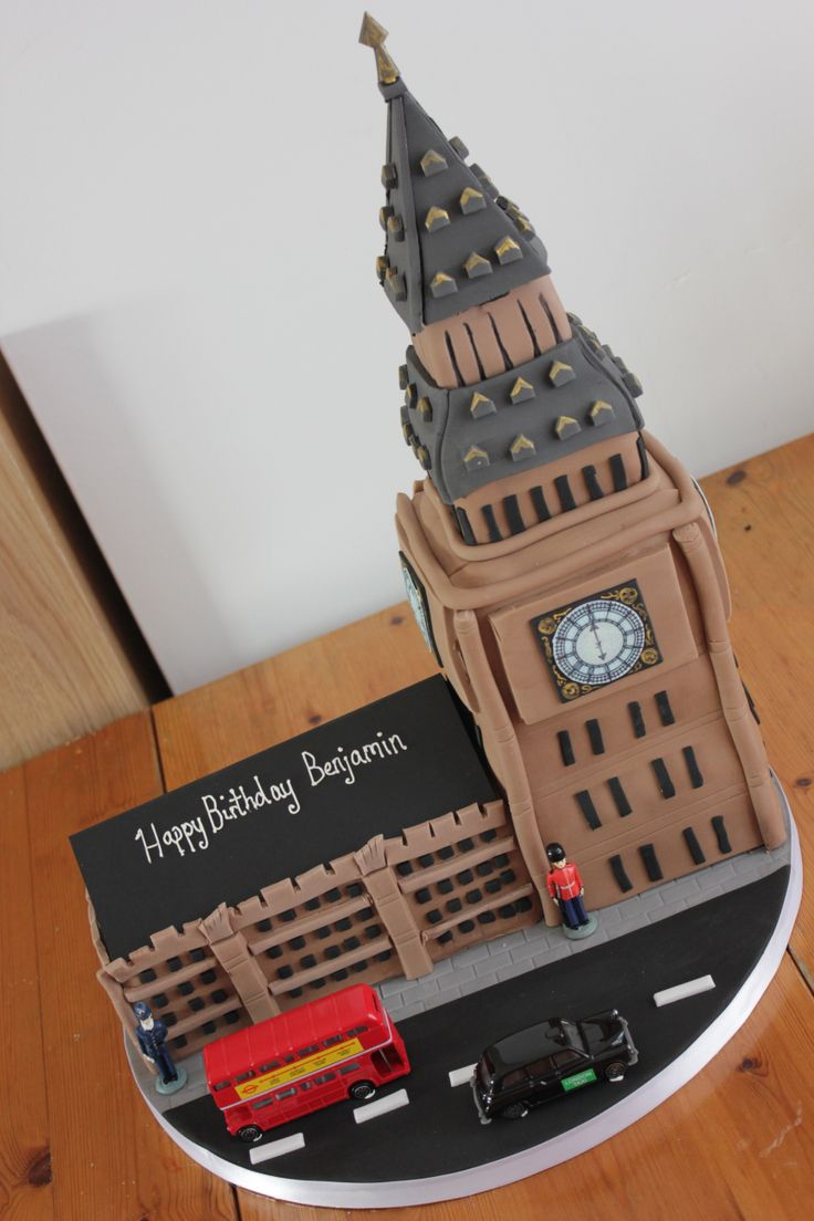 big ben london cake Gateaux pate a sucre Pinterest ...