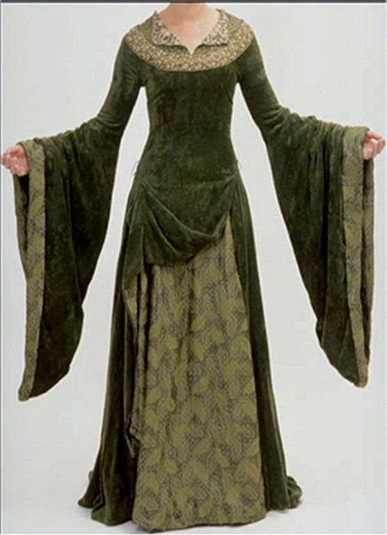 http://www.costumersguide.com/eowyn/green_front.jpg - link has lots of other views and close-up details