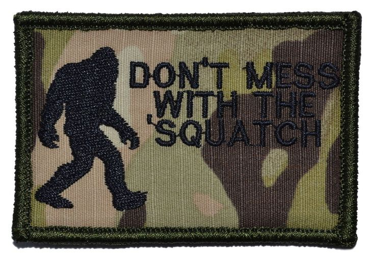 Tactical Gear Junkie - Don't Mess with the Sasquatch / Bigfoot Hunter 2x3 Military Morale Patch, $4.99 (http://www.tacticalgearjunkie.com/dont-mess-with-the-sasquatch-bigfoot-hunter-2x3-military-morale-patch/)