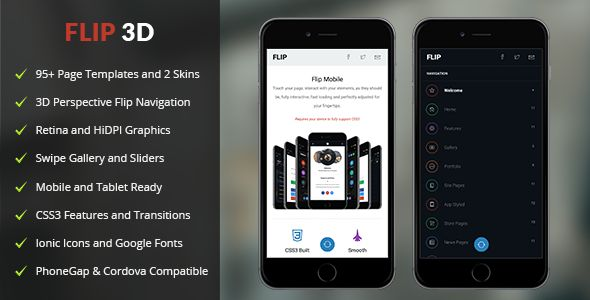 Flip 3D Mobile | Mobile Template