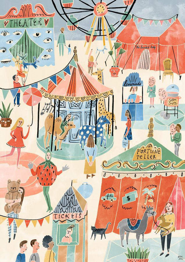 Folio illustration agency, London, UK | Bodil Jane - Food, Recipes, Animals, fashion, interiors, plants, packages and maps - Illustrator