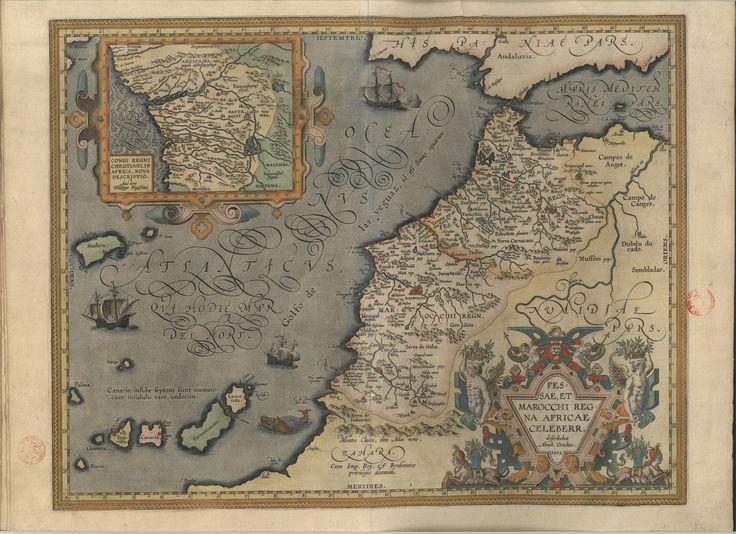 """C.A. 32 A. - 26470 - 536 -   Abraham Ortelius (1527-1598) – """"Theatro d'el orbe de la tierra"""". En Anveres : Libreria Plantiniana, 1612. BNP C.A. 32 A."""