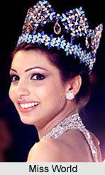 Yukta Mookhey, the winer of the Miss World title in 1999