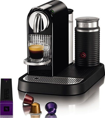 Nespresso D121-US4-BK-NE1 Espresso Maker with Aeroccino Milk Frother, Black - http://teacoffeestore.com/nespresso-d121-us4-bk-ne1-espresso-maker-with-aeroccino-milk-frother-black/
