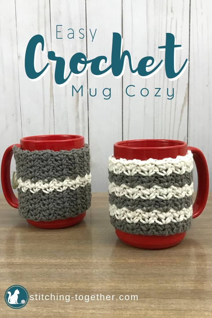 Country Crochet Coffee Cup Cozy Stitching Together Crochet Mug Cozy Crochet Cup Cozy Cozy Crochet Patterns