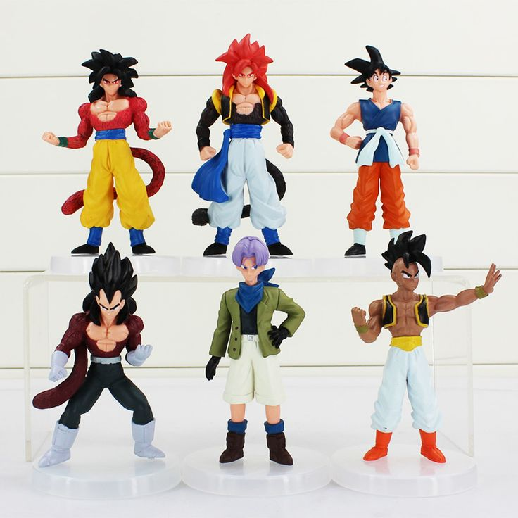 6 pcs/lot Dragon Ball Z Son Goku Dragon Ball Super Saiyan Gogeta Figurines Koleksi Mainan