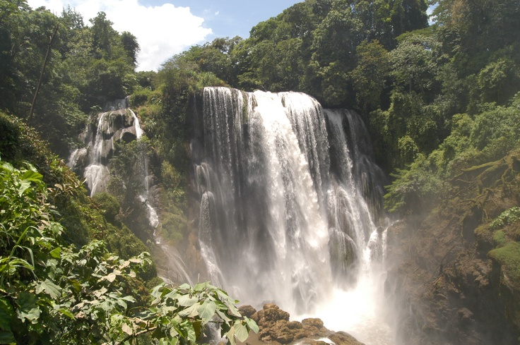 Honduras...think this is the waterfall I hiked to