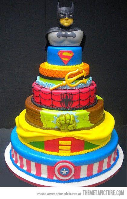 Super hero cake…