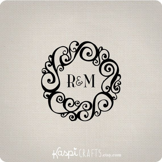 Elegant monogram  printable monogram  DIY wedding by KaspiCrafts, $4.00