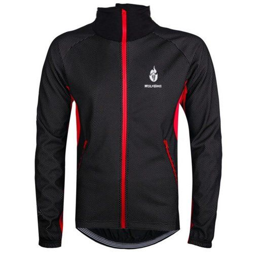 WOLFBIKE Fleece Thermal Cycling Jacket Jersey Long Sleece Windproof Waterproof UV-PROTECT Coat Outdoor Sports Casual Jacket only, Red, Size M. Variation: Size - Medium. Features: 1. Please Choose Your Size according to the size chart. You can expect to find quality materials, professional performance, reasonable price and great customer service in WOLFBIKE. Waterproof fabric 9. Super light and waterproof fabric make you enjoy cycling in the little rain. Two side pocket, Plus High...