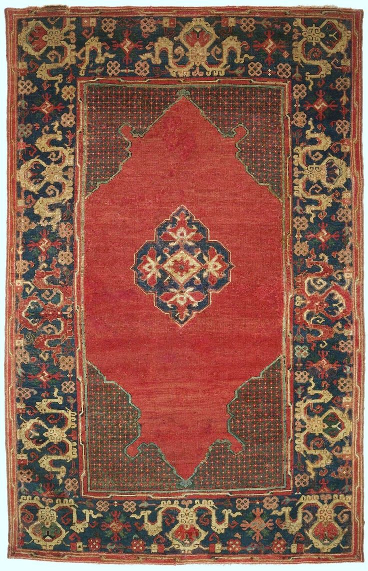 Turkish rug, opposed-arch, 17th c