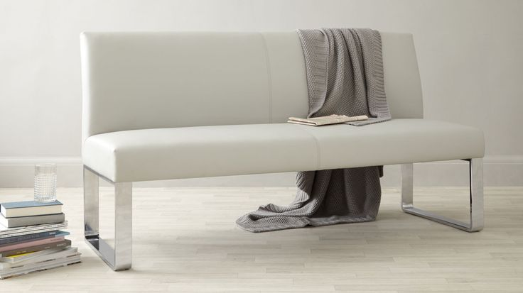 Loop 4 Seater Bench with Backrest in Cool Grey from Danetti.
