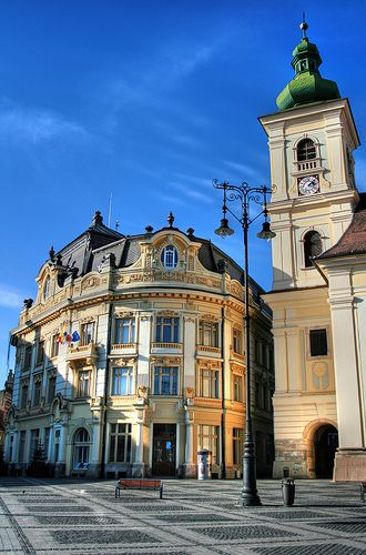 Historical buildings in Sibiu, Romania