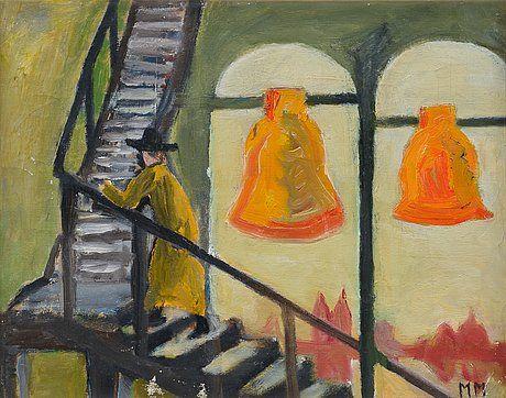 Mauno Markkula: Kellonsoittaja, öljy kankaalle, 41x52,5 cm - Bukowskis